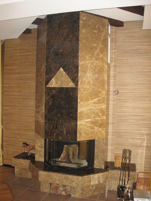 Облицовка каминов мрамором в Сочи