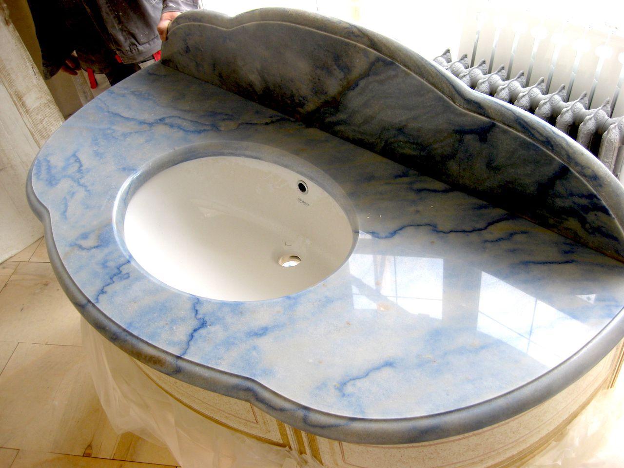 Применения мрамора в облицовке ванных комнат